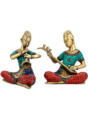 Folk Musicians, Inlaid Duo