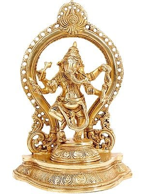 Ganesha Dances Under a Temple Arch
