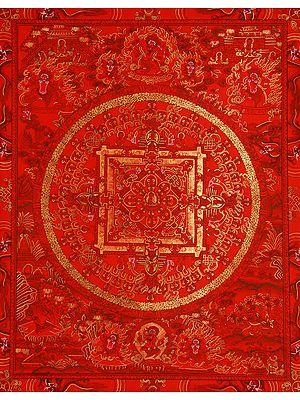 Red Mandala of Gautam Buddha -Tibetan Buddhist