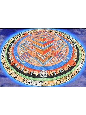 Three Dimensional Kalachakra Mandala - Tibetan Buddhist