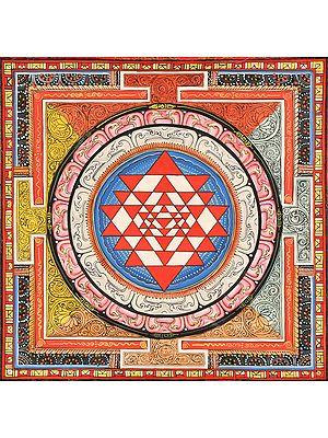 Tibetan Buddhist Shri Yantra Mandala
