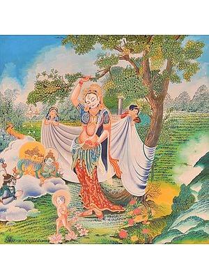 Maya Devi and Buddha's Birth (Tibetan Buddhist)