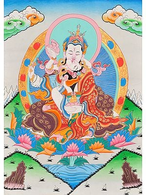 The Mystery of the Missing Khatvanga (Padmasambhava and Yeshe Tshogyal in Yab Yum)