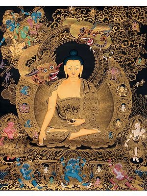 The Temptation of Shakyamuni Buddha by Mara - Superfine Large Size Tibetan Buddhist Thangka