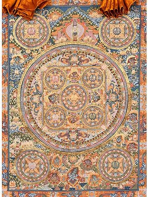 Large Size Mandala of Tibetan Buddhist Lord Buddha