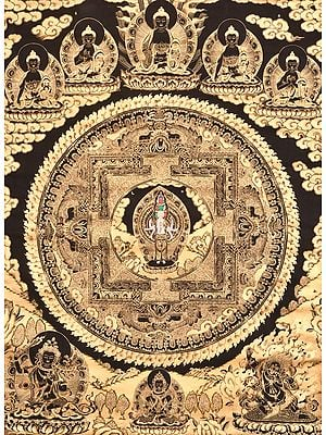 Super Large Eleven Headed Avalokiteshvara Mandala with Five Dhyani Buddhas - Tibetan Buddhist