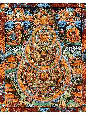 Triple Mandalas of Gautam Buddha (Tibetan Buddhist)