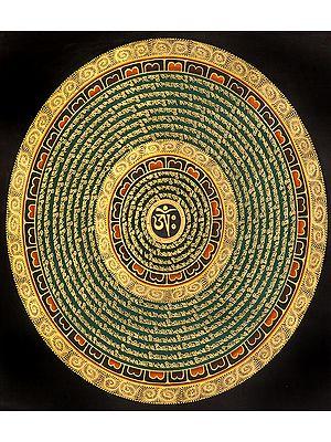 Tibetan Buddhist Om Mandala