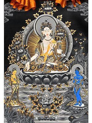Graceful White Tara - Tibetan Buddhist Seven Eyed Goddess