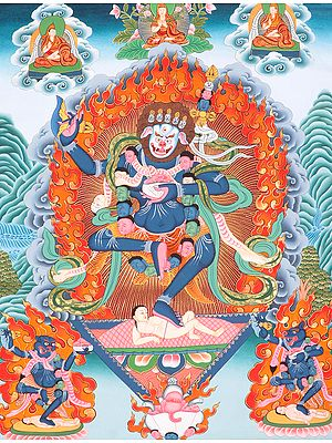 Tibetan Buddhist Simhavaktra: Lion Faced Dakini