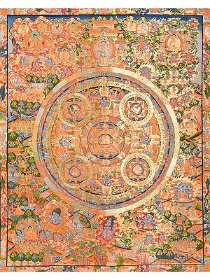 Mandala of Tibetan Buddhist Lord Gautama Buddha