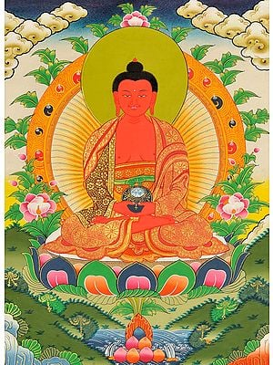 Tibetan Buddhist Deity Amitabha - The Buddha of Infinite Light