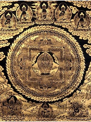 Super Large Mandala of Eleven-Headed Avalokiteshvara - Tibetan Buddhist