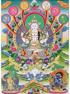 Chenrezig (Four-Armed Avalokiteshvara): Tibetan Buddhist Deity