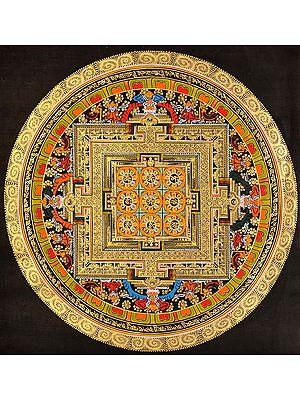 Tibetan Buddhist Syllable Mantra Mandala
