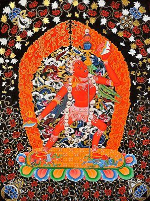 Tibetan Buddhist Deity Vajrayogini Naro Kha Chod (Sarvabuddha Dakini)