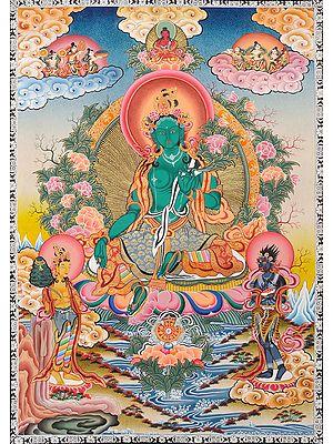Emerald Green Tibetan Buddhist Goddess Green Tara