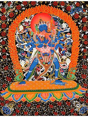 Paramsukha Chakrasamvara in Yab Yum (Tibetan Buddhist)