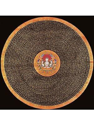 Large Size Chenrezig Mandala with Syllable Mantra