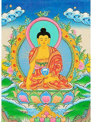 Gautama Buddha in Bhumisparsha Mudra (Tibetan Buddhist)