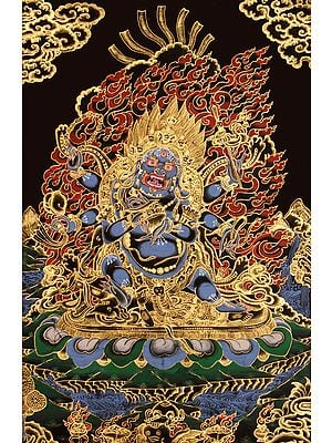 The Six-Armed (Shadbhuja) Mahakala (mGon po phyag drug pa) -Tibetan Buddhist