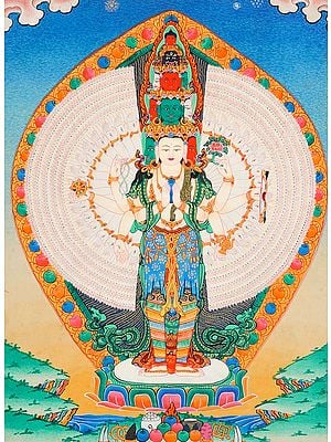 Tibetan Buddhist Eleven Headed Thousand Armed Avalokiteshvara