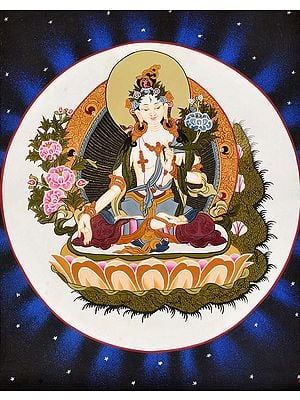 Tibetan Buddhist Goddess White Tara -Goddess of Long Life