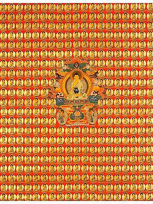 Thousand Buddha Wall (Auspiciousness Multiplied)