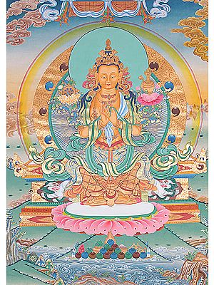 Tibetan Buddhist - Future Buddha Maitreya (Super Large Thangka)