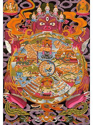 Tibetan Buddhist Bhavachakra of Human Life in Buddhist Perspective (The Wheel of Life)
