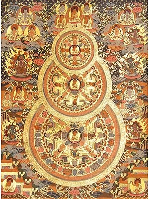 Triple Mandalas of Buddha (Tibetan Buddhist)