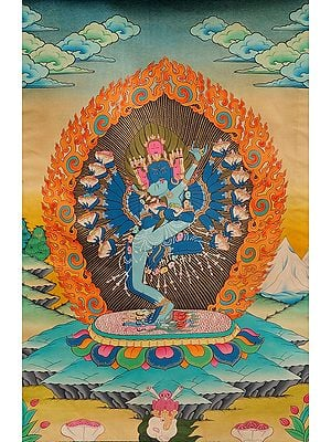 Tibetan Buddhist Hevajra in Yab Yum