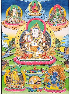 Tibetan Buddhist Vajrasattva in Yab Yum