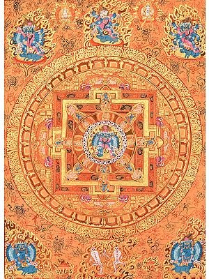 Tibetan Buddhist Mandala of Heruka in Yab Yum