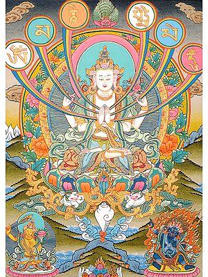 The Patron Deity of Om Mani Padme Hum(Tibetan Buddhist)