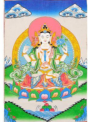 Shadakshari Lokeshvara ( Tibetan Buddhist Chenrezig)