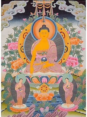Buddha and His Two Disciples (Tibetan Buddhist )