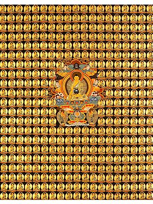 Tibetan Buddhist Thousand Buddha Wall