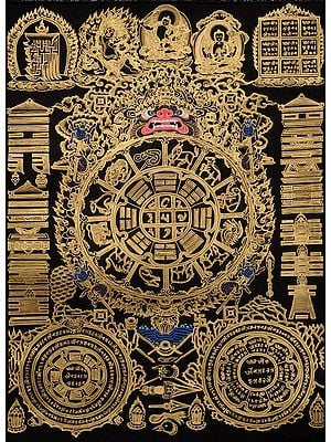 Tibetan Buddhist Astrological Diagram