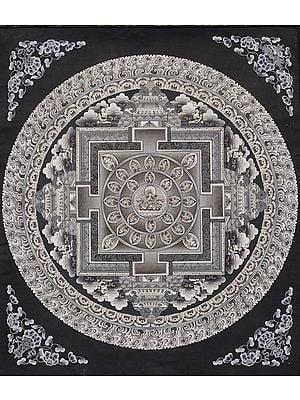 Monotone Mandala Of Lord Manjushri