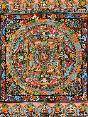 Buddha Mandala -Tibetan Buddhist