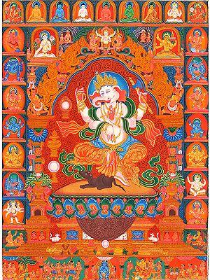 Newari Ganesha (Tibetan Buddhist Respresent)