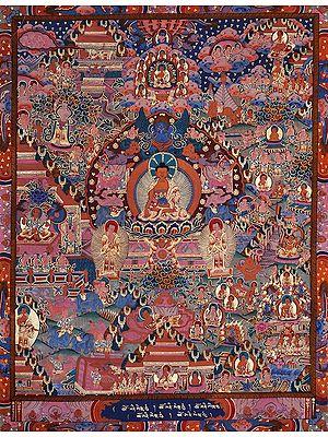 Shakyamuni Buddha(Tibetan Buddhist) and The Scenes From His Life