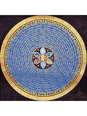 Om Mani Padme Hum Tibetan Buddhist Mandala