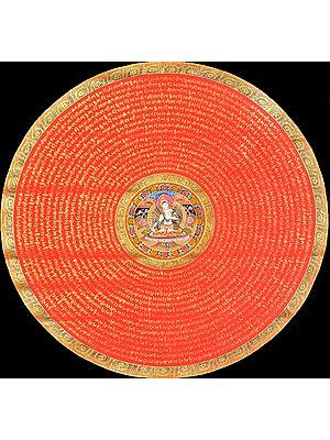 Tibetan Buddhist Goddess White Tara Mandala (Super Large Size)