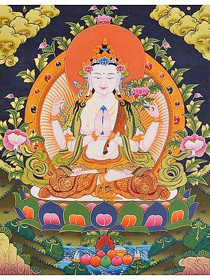 Tibetan Buddhist Deity Chenrezig (Shadakshari Lokeshvara)