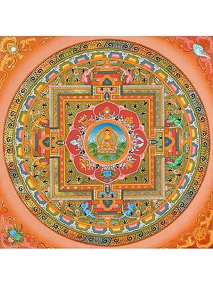 Fine Quality Buddha Mandala (Tibetan Buddhist)