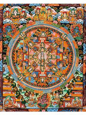 Tibetan Buddhist Deity Thousand Armed Avalokiteshvara Mandala
