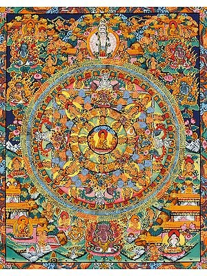 Shakyamuni Buddha Mandala -Tibetan Buddhist