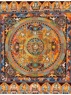 Tibetan Buddhist God Chenrezig Mandala